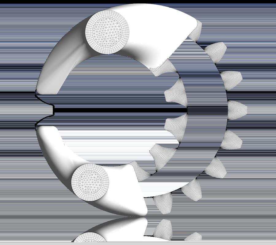 CFD Analysis of Internal Gear Pumps: 2D Mesh for an Internal Gear Pump