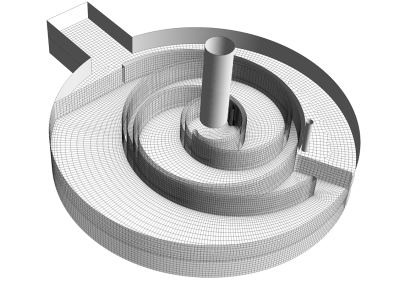 Mesh for working chamber and rotor interfaces