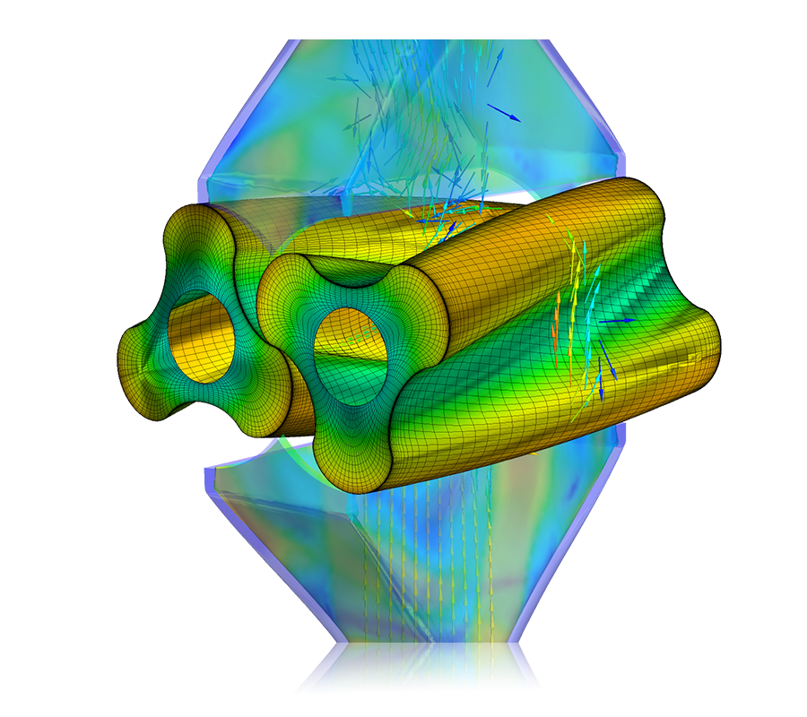 Velocity distribution in rotary lobe pumps