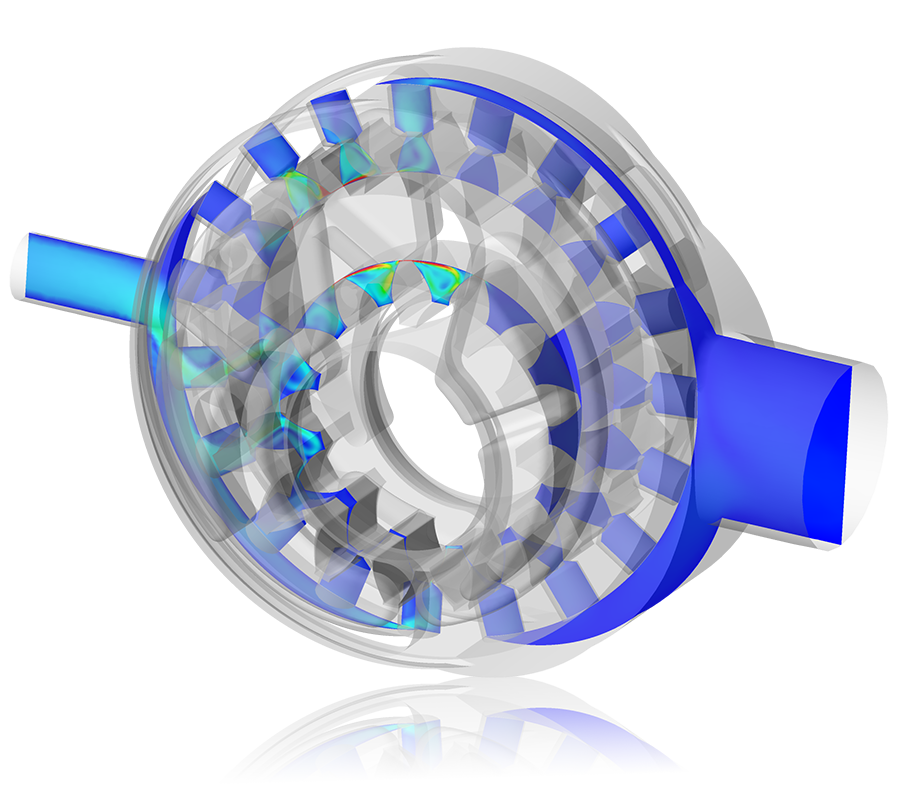 CFD Analysis of Internal Gear Pumps: Velocity Distribution in an Internal Gear Pump