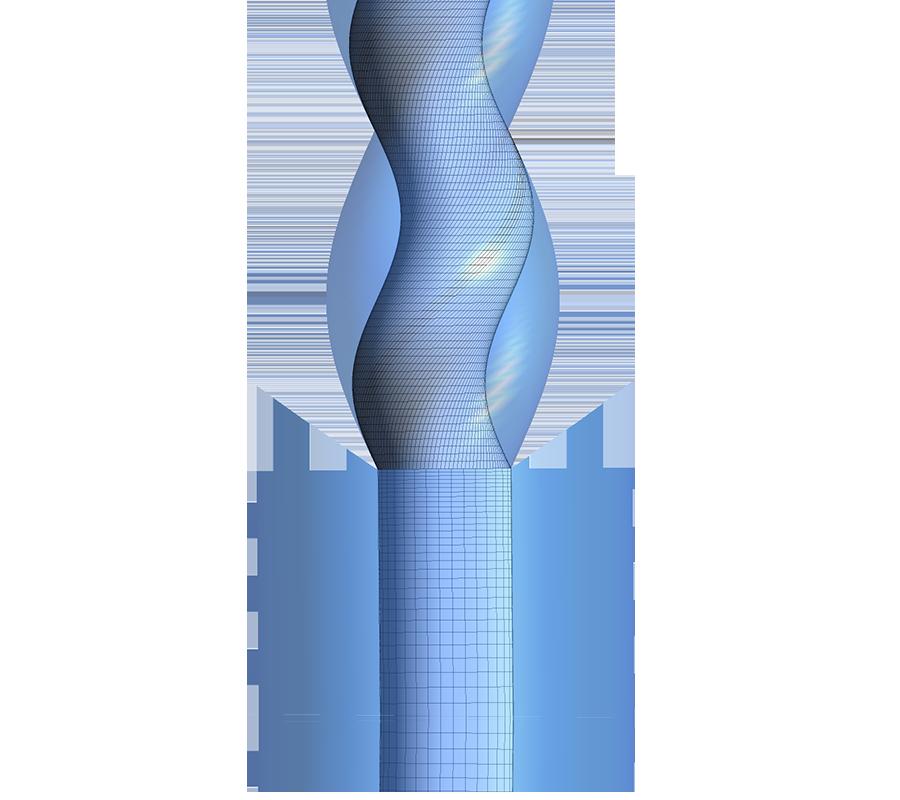 Image Mesh for a Progressive Cavity Pump