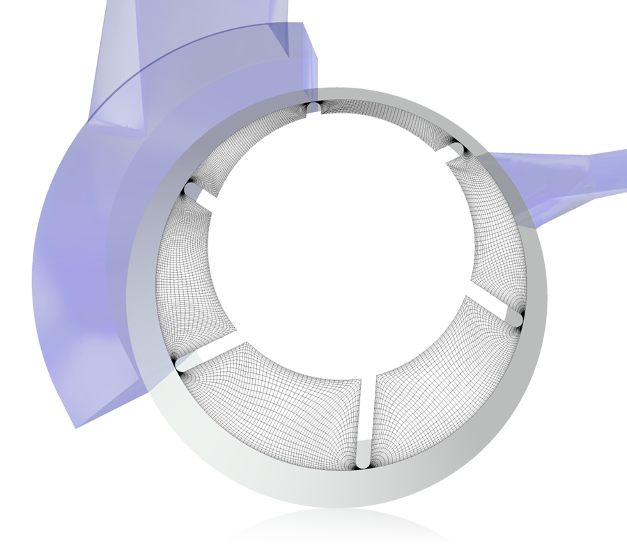 Image Mesh for a Vane Pump